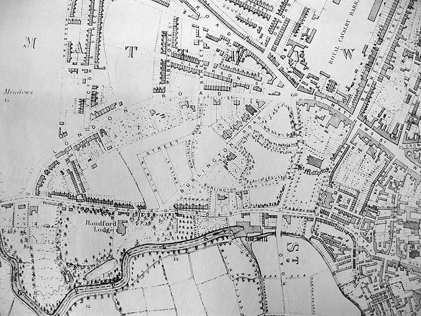 Ipswich Historic Lettering: Abolitionists map 1867