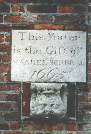 Ipswich Historic Lettering: Sorrell fountain