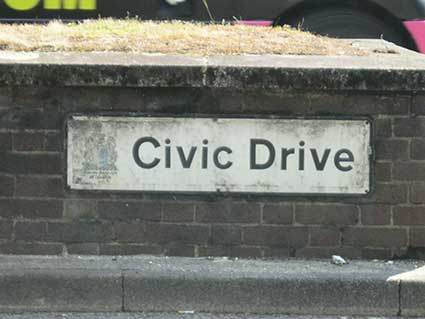 Ipswich Historic Lettering: Civic Drive 1
