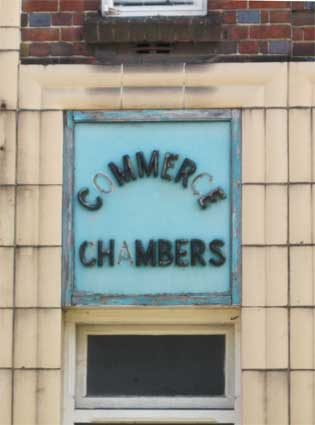 Ipswich Historic Lettering: Commerce Chambers 2