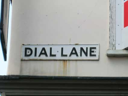 Ipswich Historic Lettering: Dial Lane sign