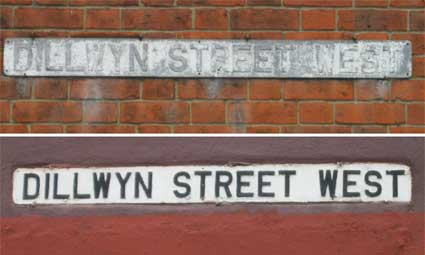 Ipswich Historic Lettering: Dillwyn St West sign