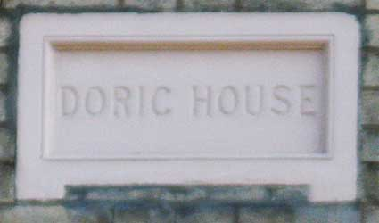 Ipswich Historic Lettering: Doric House 2