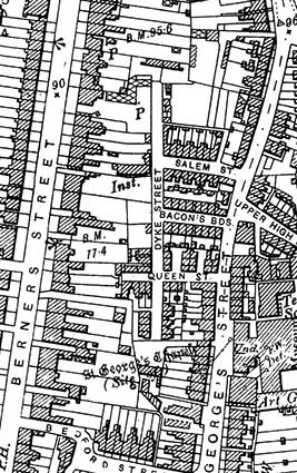 Ipswich Historic Lettering: Dykes St map 1902