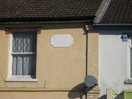 Ipswich Historic Lettering: Beaumont Terrace 1