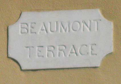 Ipswich Historic Lettering: Beaumont Terrace 2