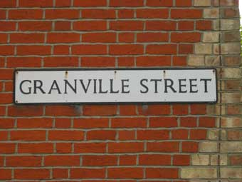 Ipswich Historic Lettering: Granville St sign