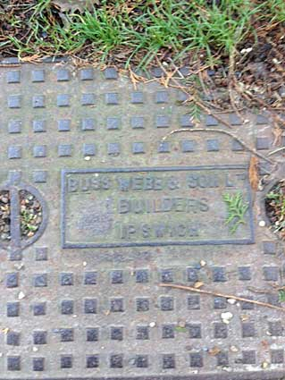 Ipswich Historic Lettering: Drain cover Greatrex