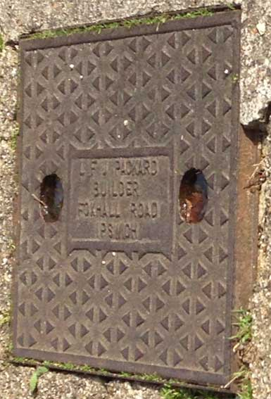 Ipswich Historic Lettering: Drain cover Greatrex 3