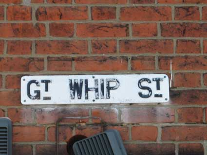 Ipswich Historic Lettering: Gt Whip Street sign