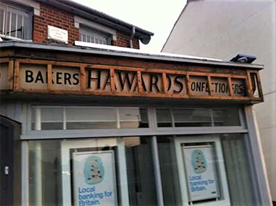 Ipswich Historic Lettering: Royal Oak Hawards Bakers