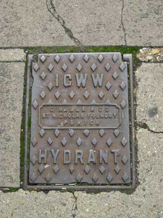 Ipswich Historic Lettering: Hydrant ICWW Rope Walk