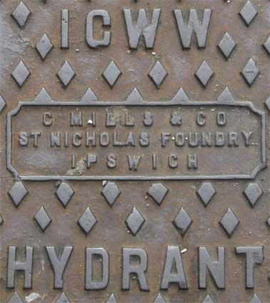 Ipswich Historic Lettering: ICWW Hydrant Rope Walk 2