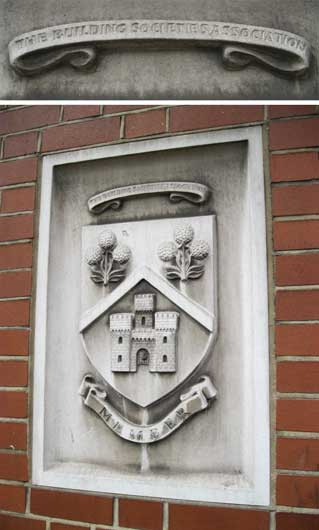 Ipswich Historic Lettering: IBS crest