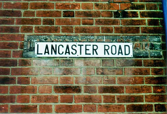 Ipswich Historic Lettering: Lancaster Rd sign