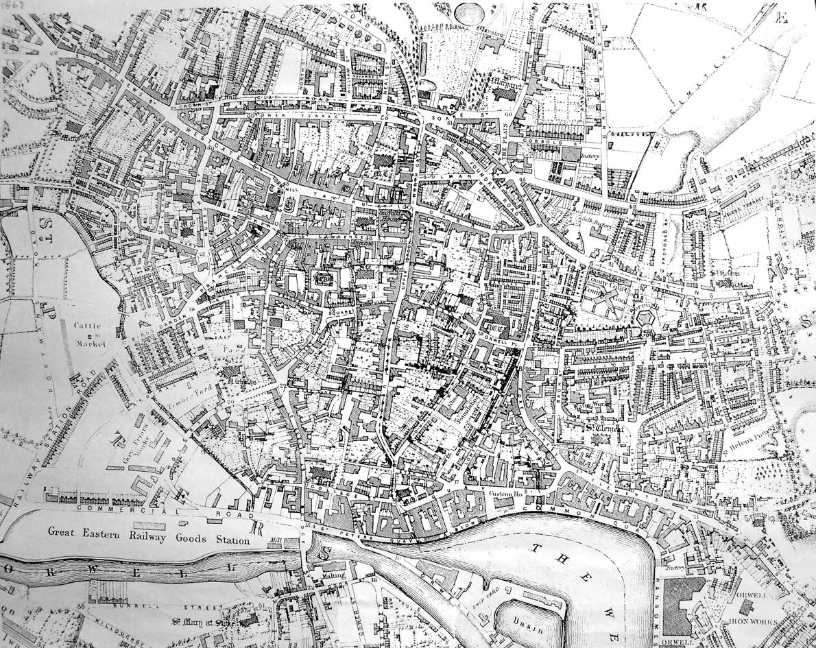 Historic Lettering map 1867
