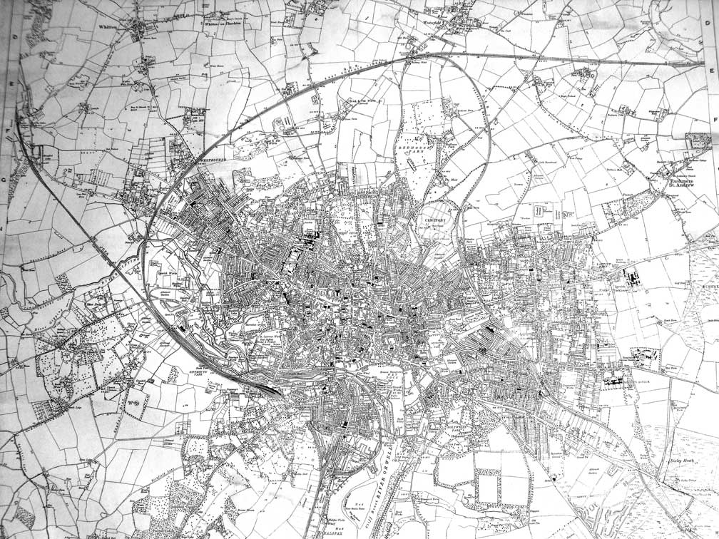 Ipswich Uk Map.Ipswich Historical Lettering Map 1930