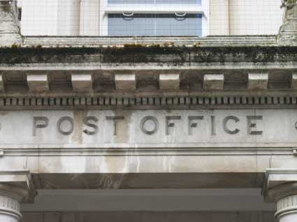 Ipswich Historic Lettering: Post Office front 1