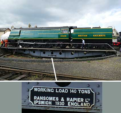 Ipswich Historic Lettering: Ransomes Rapier Nene Valley Rlwy.