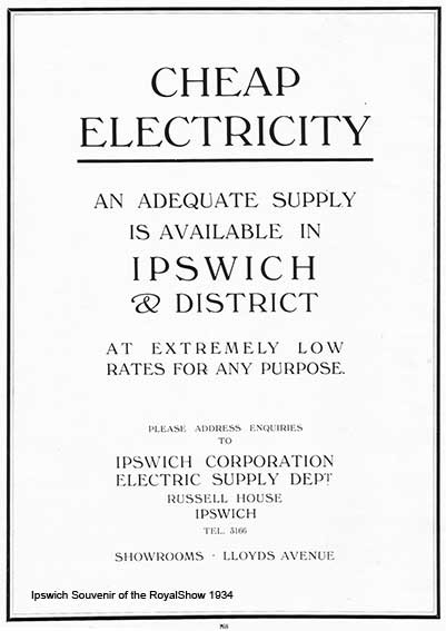 Ipswich Historic Lettering: Electricity advert