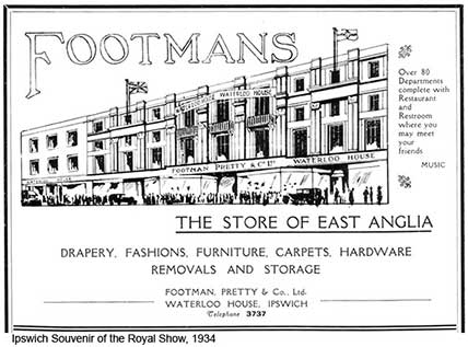 Ipswich Historic Lettering: Cornhill Footmans store