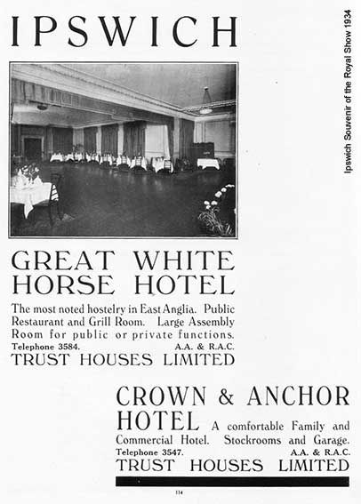 Ipswich Historic Lettering: Great White Horse 1934