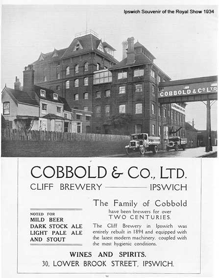 Ipswich Historic Lettering: Cobbold Brewery 1934