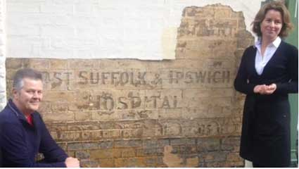 Ipswich Historic Lettering: Scarborow sign BBC pic