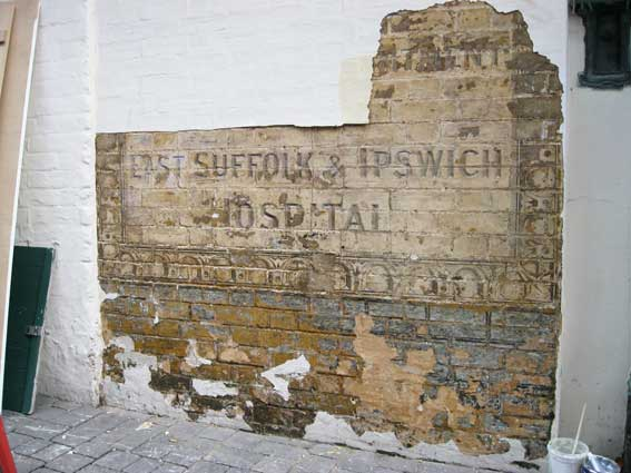 Ipswich Historic Lettering: Scarborow sign 1