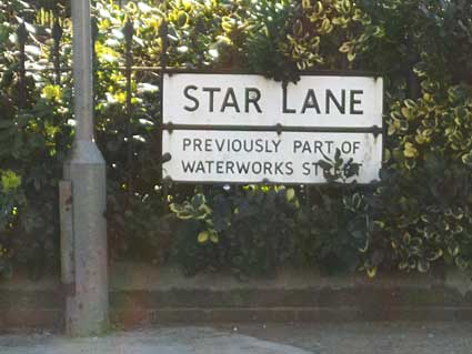 Ipswich Historic Lettering: Star Lane sign 1