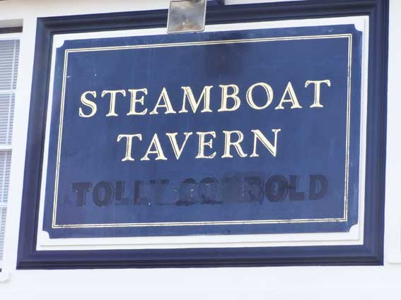 Ipswich Historic Lettering: Steamboat 2