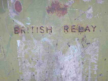 Ipswich Historic Lettering: British Relay box 4