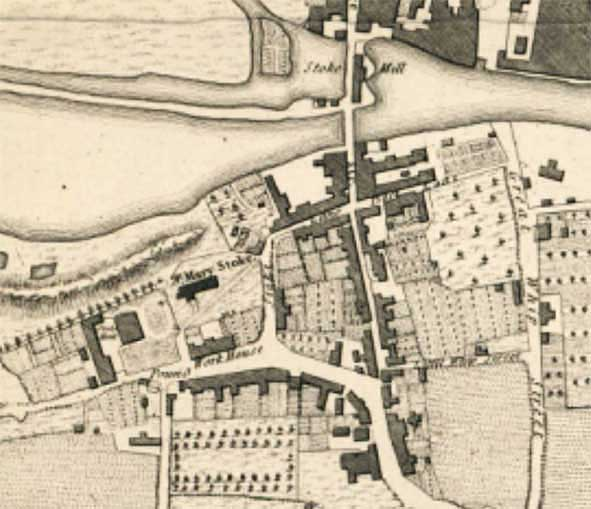 Ipswich Historic Lettering: Stoke Hall map 1780