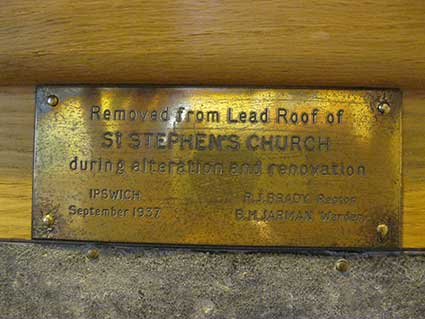 Ipswich Historic Lettering: St Stephen Church 2