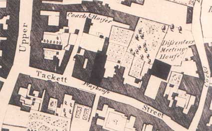Ipswich Historic Lettering: Tacket Street map 1778
