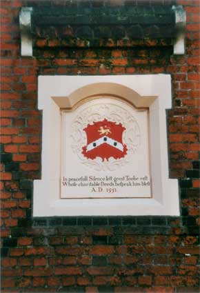 Ipswich Historic Lettering: Tooleys almshouses 1
