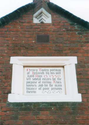 Ipswich Historic Lettering: Tooleys almshouses 2