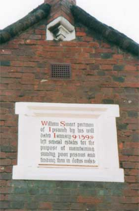 Ipswich Historic Lettering: Tooleys almshouses 3