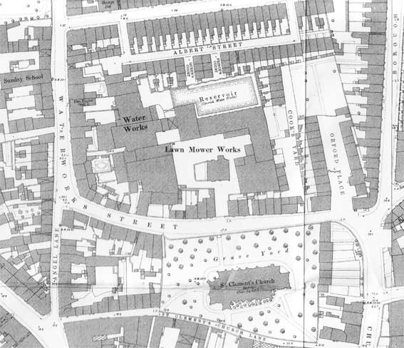 Ipswich Historic Lettering: Water Works map