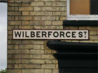 Ipswich Historic Lettering: Wilberforce St sign