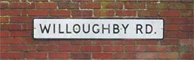 Ipswich Historic Lettering: Willoughby Road street sign