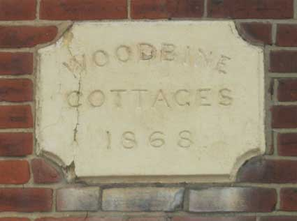Ipswich Historic Lettering: Woodbine Cottages 2
