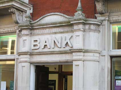 Ipswich Historic Lettering: Woodbridge Bank 2