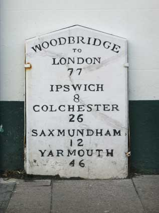 Ipswich Historic Lettering: Woodbridge milestone 2